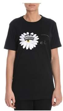 Chiara Ferragni Women's Black Cotton T-shirt.