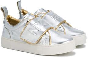 No.21 Kids logo touch-strap sneakers