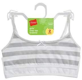 Hanes Girls' Crop Bralette 2 Pack