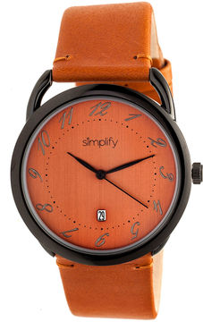 Simplify The 4900 Unisex Orange Strap Watch-Sim4905