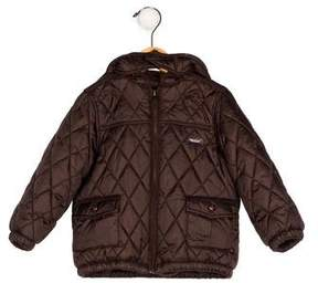 Jacadi Boys' Hooded Quilted Jacket
