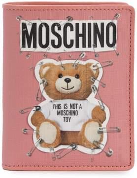 Moschino logo Teddy wallet