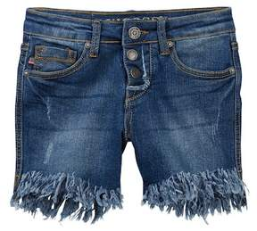 Vigoss Bermidi Hi-Lo Frayed Hem Shorts (Big Girls)