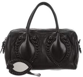 Alaia Studded Leather Satchel