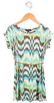 Imoga Girls' Printed Short Sleeve Dress