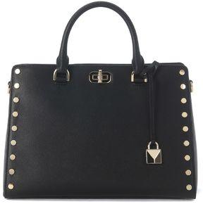 Michael Kors Sylvie Black Leather Handbag With Studs - NERO - STYLE