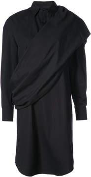 Chalayan draped shirt dress