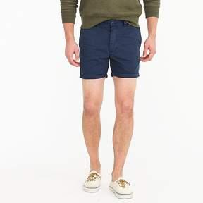 J.Crew 5 Short In Garment-Dyed Blue Cotton