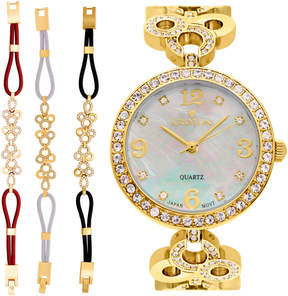 Croton Womens Gold Tone 4-pc. Watch Boxed Set-Cn407567ylmp