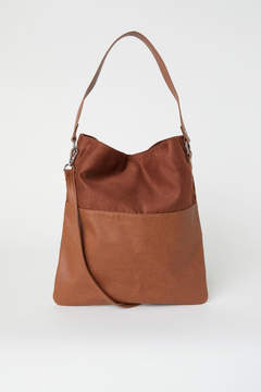 H&M Shopper with Shoulder Strap - Beige
