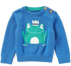 Joules Baby Boys Newborn-12 Months Frog Pullover Sweater