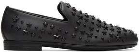 Jimmy Choo Black Stars Sloane Loafers