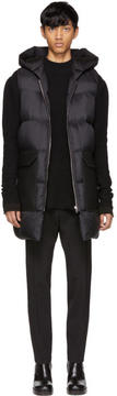 Rick Owens Black Down Hooded Vest