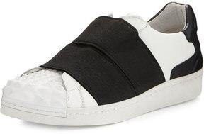 Ash Clip Elastic Slip-On Sneaker, White