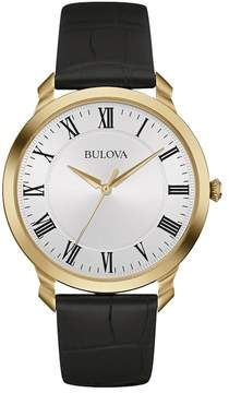 Bulova Men's Classic Leather Watch - 97A123