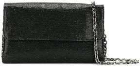 Casadei foldover glittered clutch bag