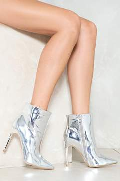Nasty Gal Pedal to the Metal Metallic Boot