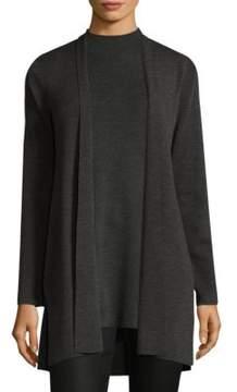 Eileen Fisher Wool Straight Long Cardigan