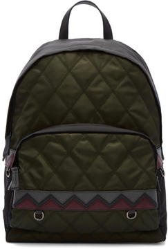 Prada Green Quilted Army Backpack