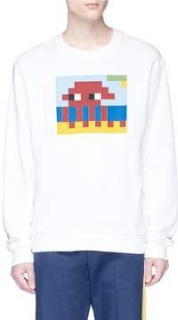 Mostly Heard Rarely Seen 'Alien in the Beach' rubber appliqué sweatshirt