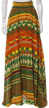 Stella Jean Silk Abstract Print Skirt w/ Tags