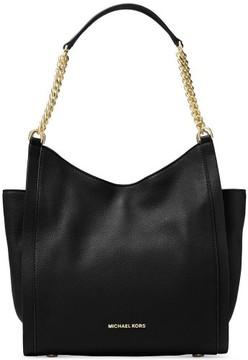 Michael Kors Women's Medium Newbury Small Pebble Shoulder Tote Leather Bag - Black - BLACK - STYLE