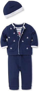 Little Me 4-Pc. Cotton Jacket, Bodysuit, Pants & Hat Set, Baby Boys