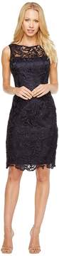 Adrianna Papell Illusion Neck Lace Dress Women's Dress