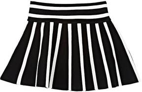 Milly Kids' Striped Compact Knit Flared Skirt