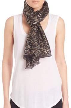Roberto Cavalli Textured Silk Blend Scarf