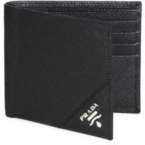 Prada Orizzont Nero Leather Wallet