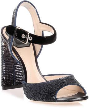 Christian Dior Shade velvet and sequin sandal