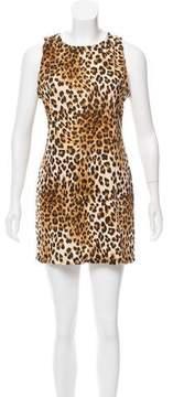 For Love & Lemons Sleeveless Leopard Print Dress