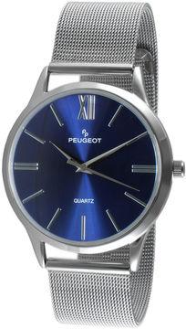 Peugeot Mens Blue Dial Stainless Steel Mesh Watch 1052SBL