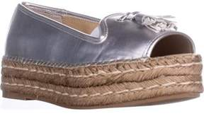 Adrienne Vittadini Parke Flat Sandals, Silver.
