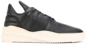 Filling Pieces contrast lace up sneakers