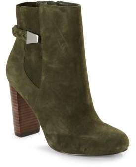 Saks Fifth Avenue Ankle-Length Stack Heel Boots