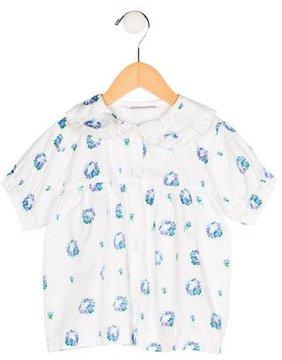 Rachel Riley Girls' Floral Print Short Sleeve Top