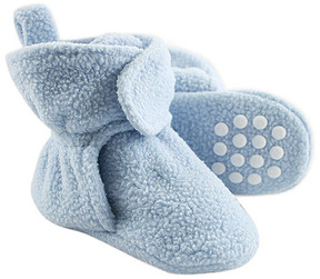 Luvable Friends Light Blue Gripper Booties - Boys