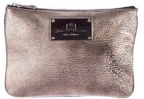 Rebecca Minkoff Pebbled Leather Pouch - METALLIC - STYLE