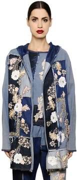 Antonio Marras Floral Patchwork Cotton Denim Jacket