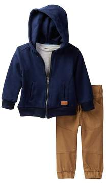 7 For All Mankind Tee, Hoodie, & Jogger 3-Piece Set (Baby Boys)