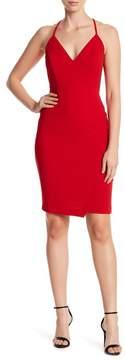 Bebe Lace Back Strappy Midi Dress