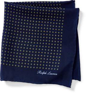 Ralph Lauren Print Silk Crepe Pocket Square