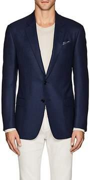 Giorgio Armani Men's Soft Geometric-Pattern Wool Two-Button Sportcoat