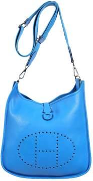 Hermes Evelyne leather satchel - BLUE - STYLE