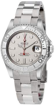 Rolex Yacht-Master Platinum Dial Stainless Steel Automatic Midsize Watch