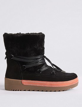 Marks and Spencer Suede Side Zip Ankle Boots