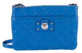 Marc Jacobs Quilted Leather Crossbody Bag - BLUE - STYLE