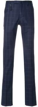 Incotex grid print trousers